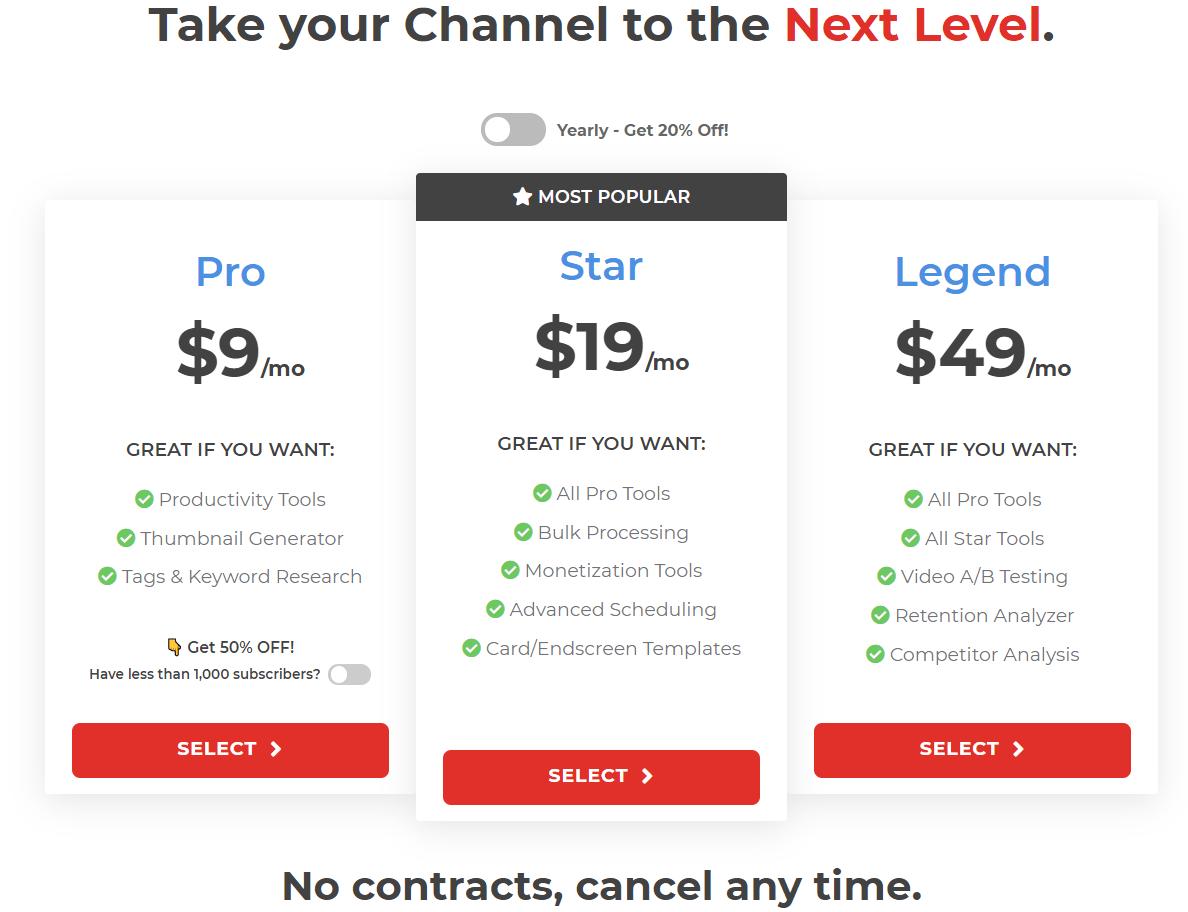 Tube Buddy Pricing