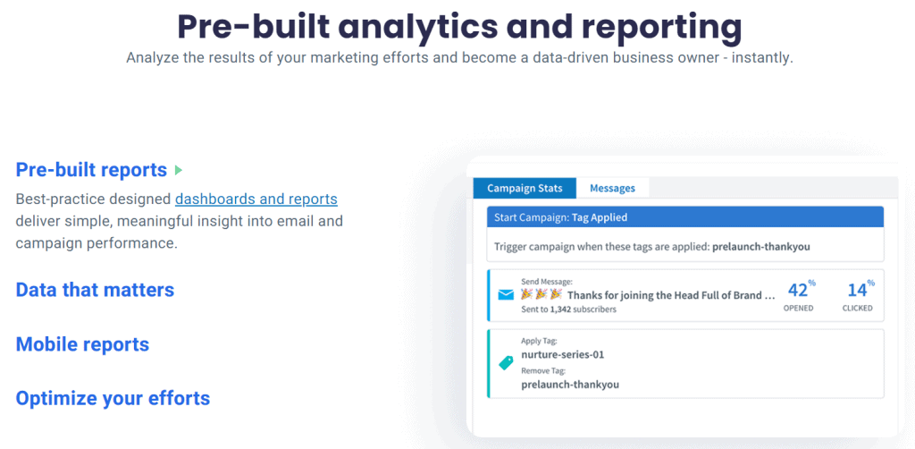 Aweber Analytics and Reporting