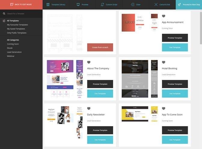Moosend Landing Pages