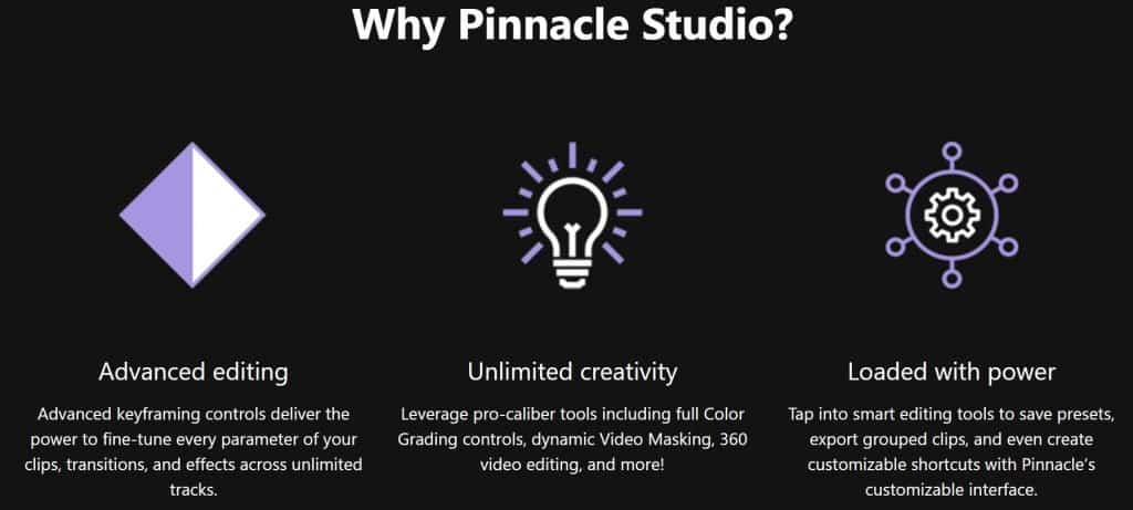 Why do you need Pinnacle Studio?
