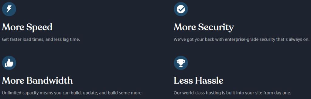 ssd wordpress hosting features